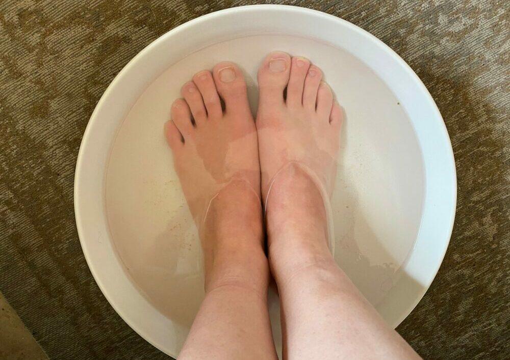 pieds dans du vinaigre